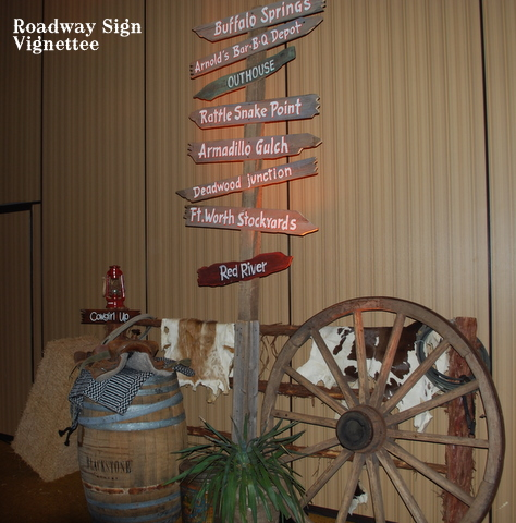 10ft Old West Roadway Directional Sign Post Only 125 00