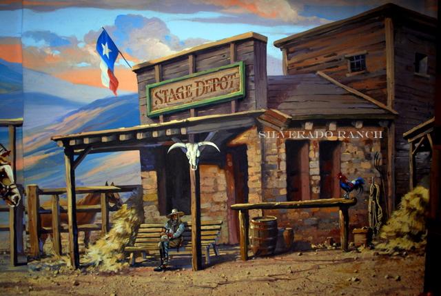 Western Back Drops Murals Art Dallas Western Back Drop